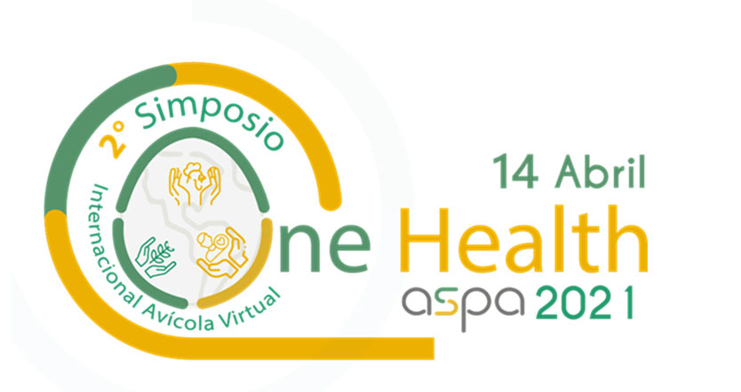Logo del 2º Simposio Internacional Avícola Virtual One Health ASPA 2021